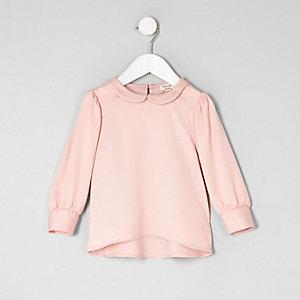 Mini - Roze blouse met kraag voor meisjes