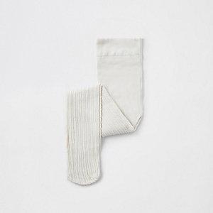 Mini - Crème gebreide maillot met kabelmotief voor meisjes