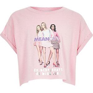 T-shirt court à imprimé Mean Girls rose pour fille