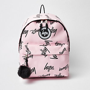 Girls pink Hype Disney backpack