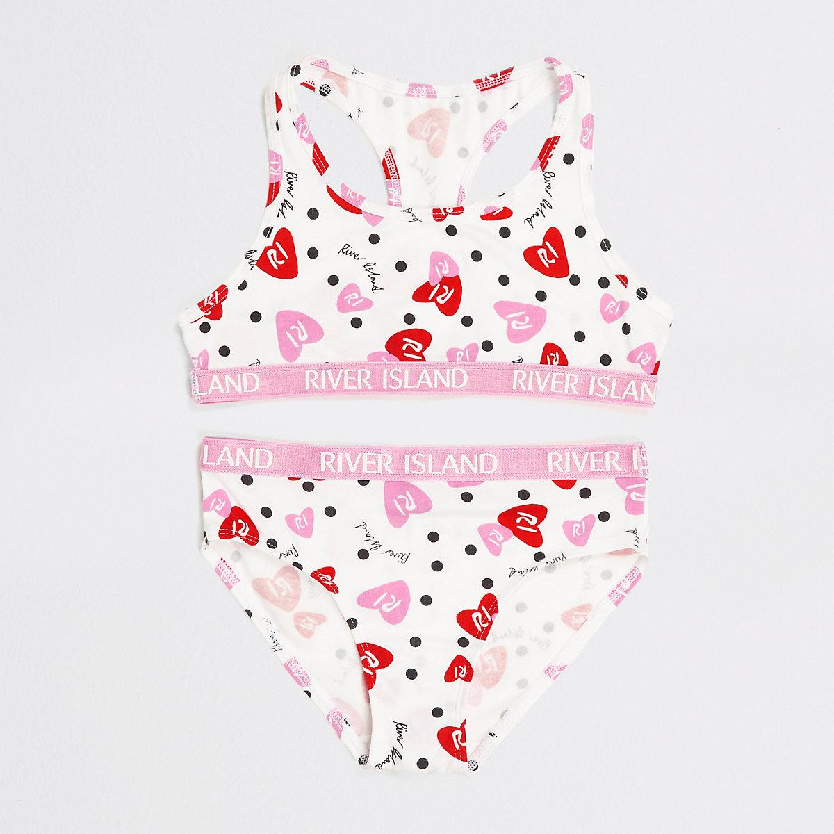 Girls white RI heart racer top set - Pyjamas   Underwear - girls 2d6a66d27