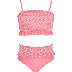 Pinkes Bandeau-Bikiniset