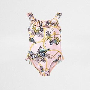 Pinker Badeanzug mit Print