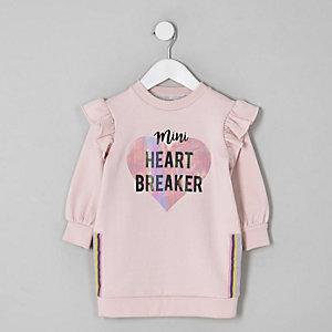 """Pinkes Pulloverkleid """"Heart breaker"""""""