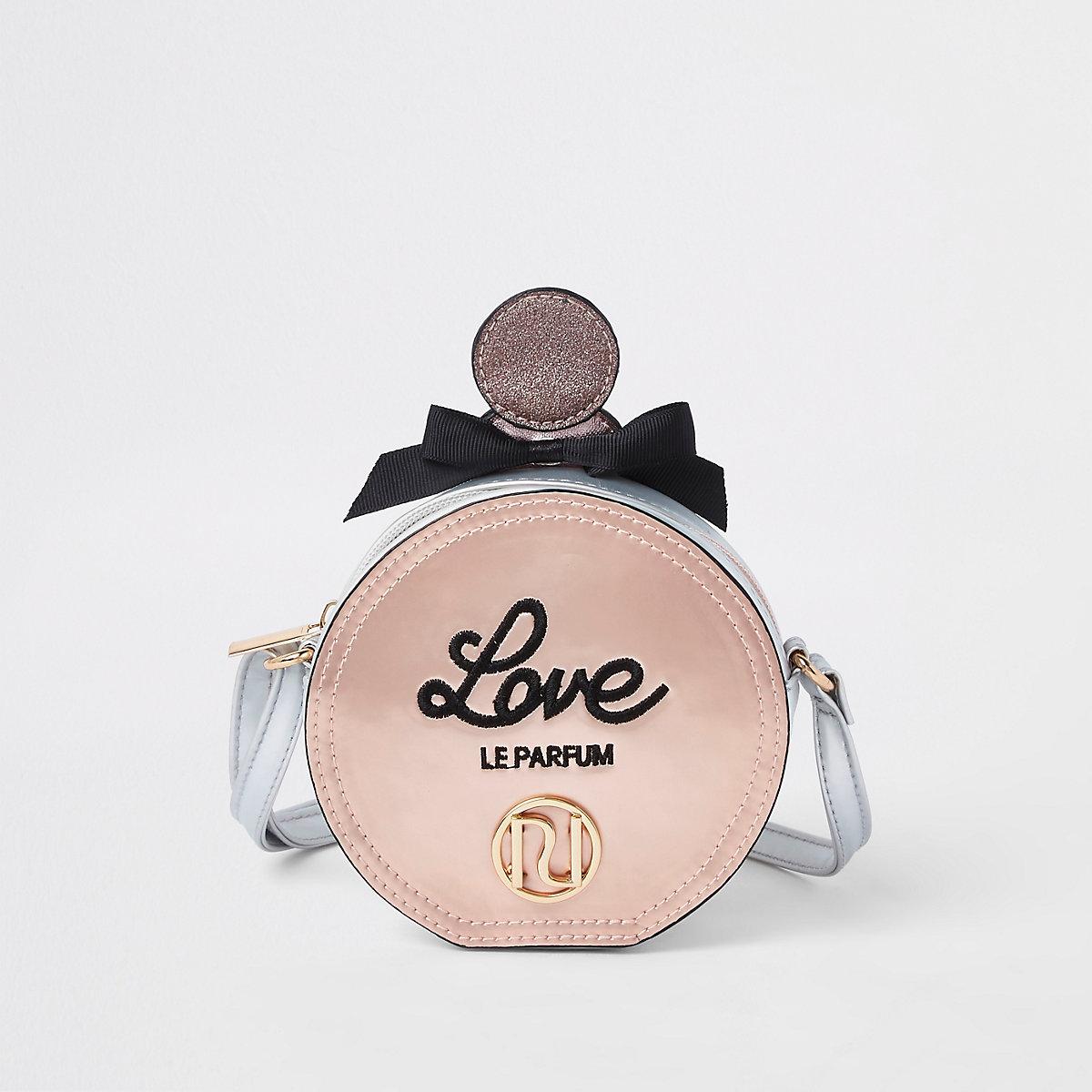 Girls pink perfume RI cross body bag