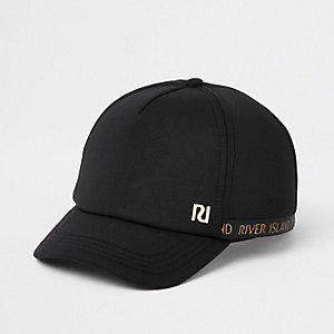 Girls black RI baseball cap