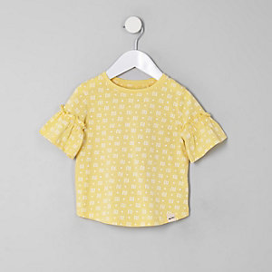 Mini girls yellow RI T-shirt