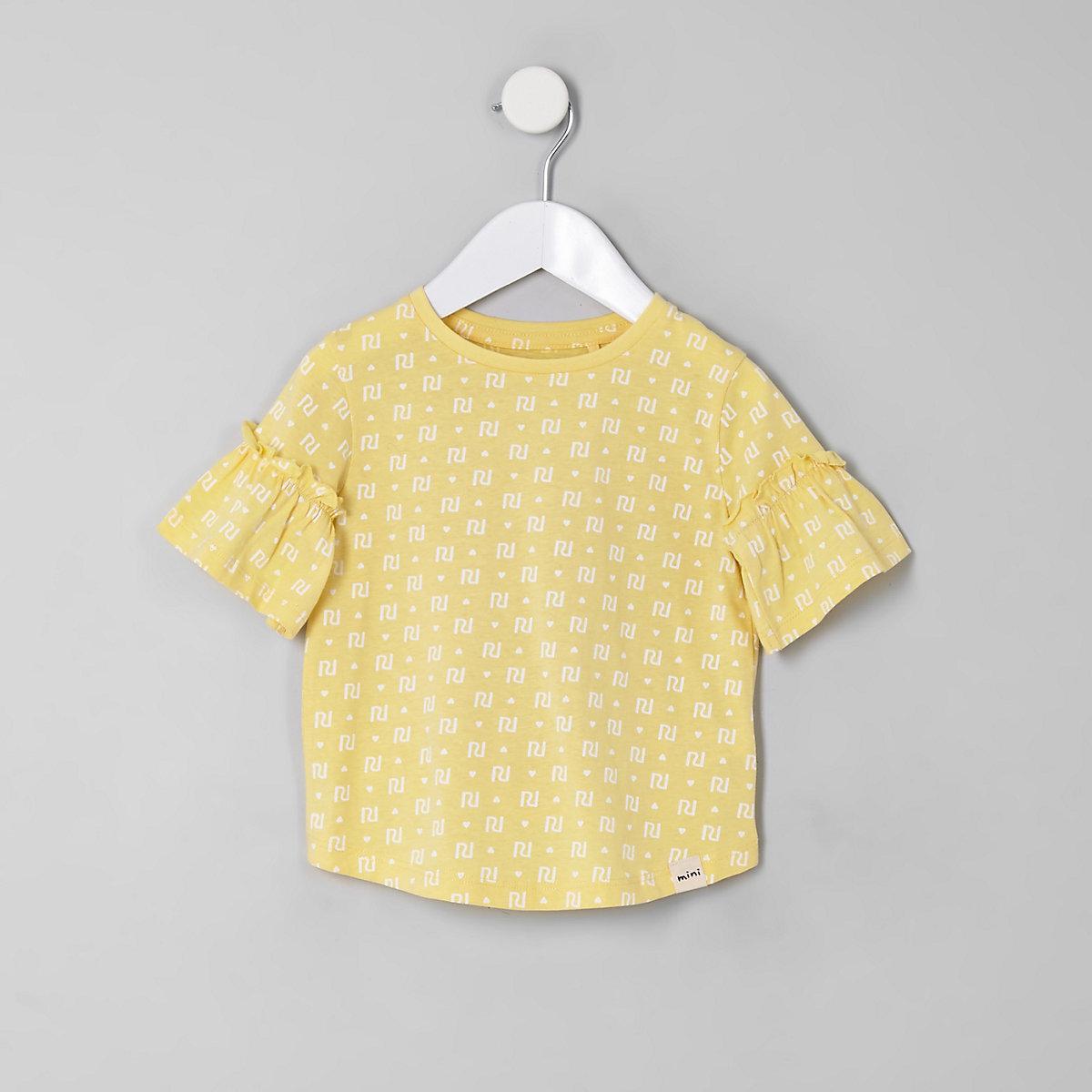 Mini girls yellow RI T-shirt