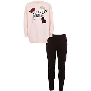 "Outfit mit pinkem Sweatshirt ""Queen Couture"""