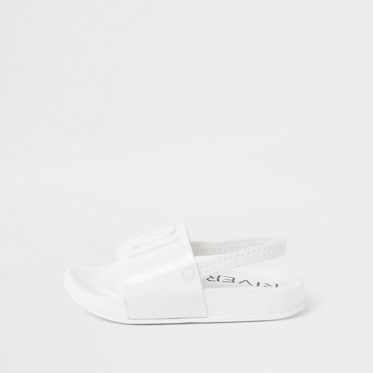 Mini girls white RI jelly sliders