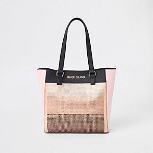 Pinke Shopper-Tasche