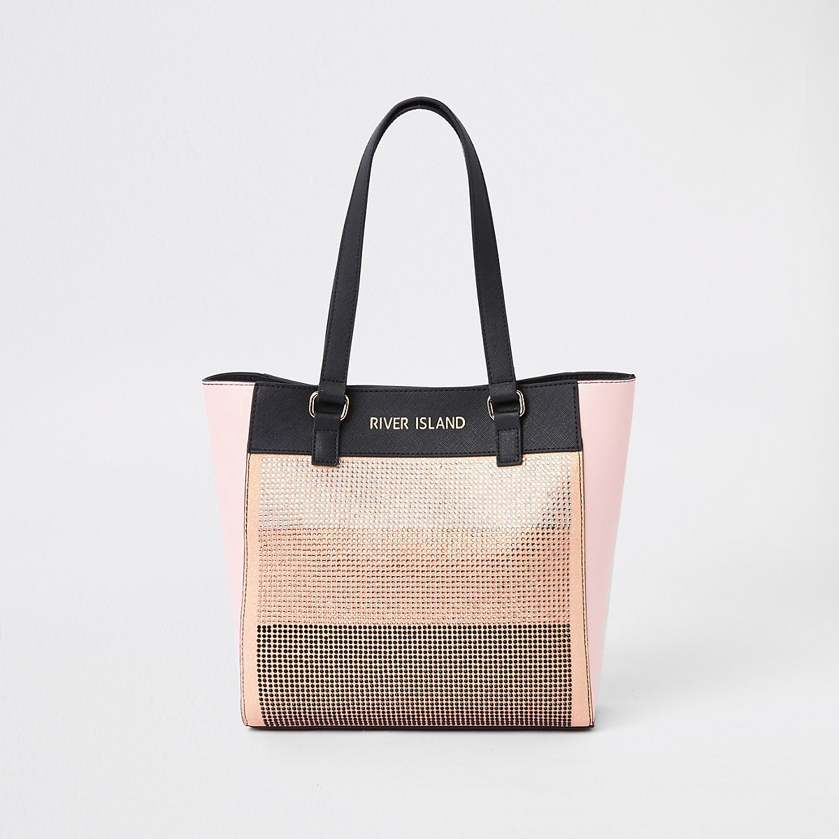 Girls pink rhinestone shopper