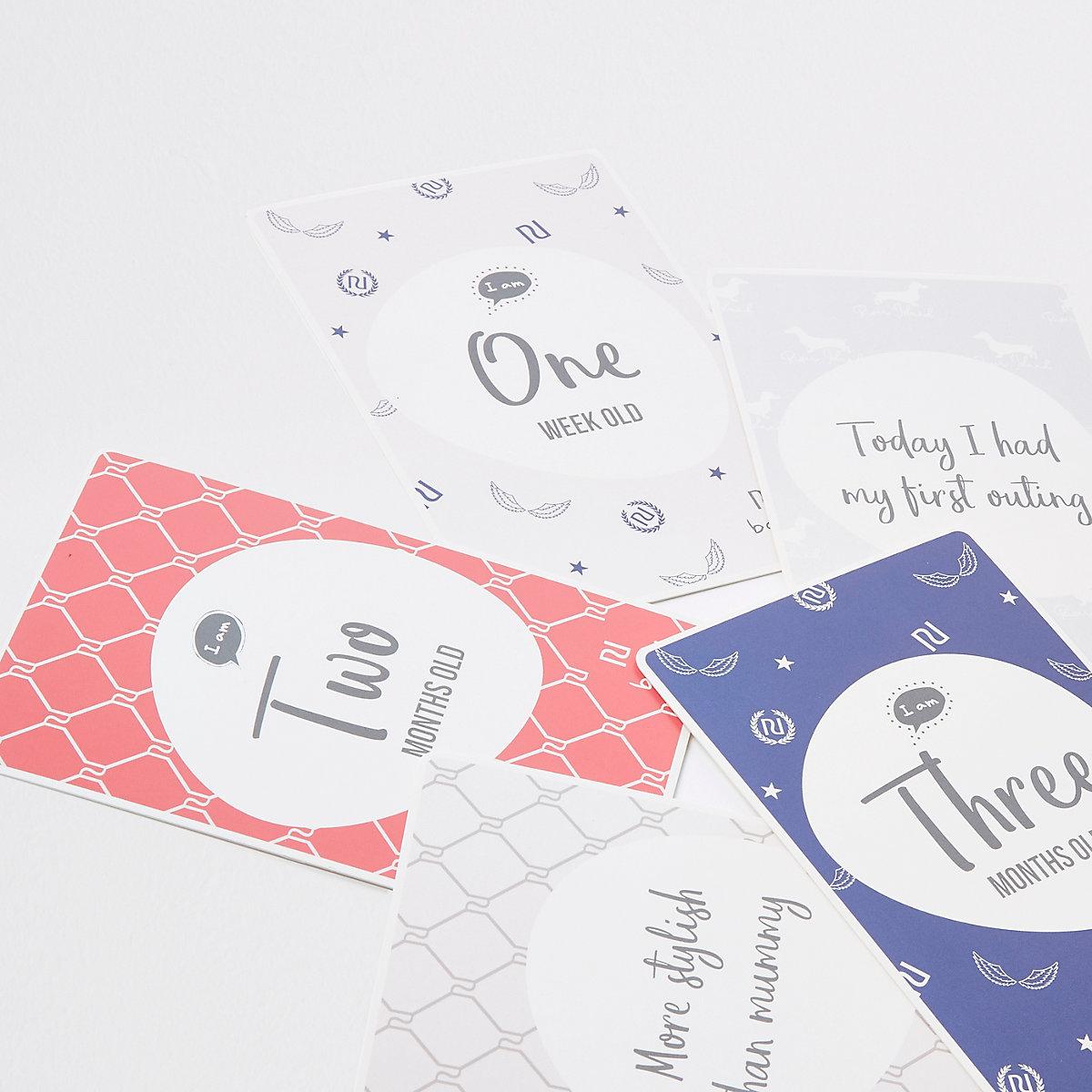 Baby grey milestone cards