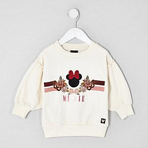 Mini girls cream Minnie Mouse sweatshirt