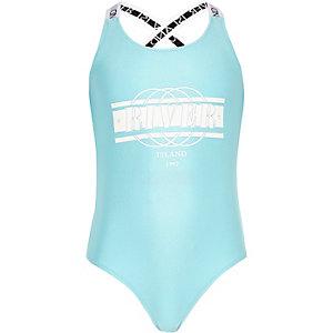 Blauer Badeanzug mit Print