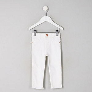 Mini - Molly - Witte jegging met halfhoge taille