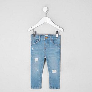Amelie – Blaue Skinny Jeans im Used-Look