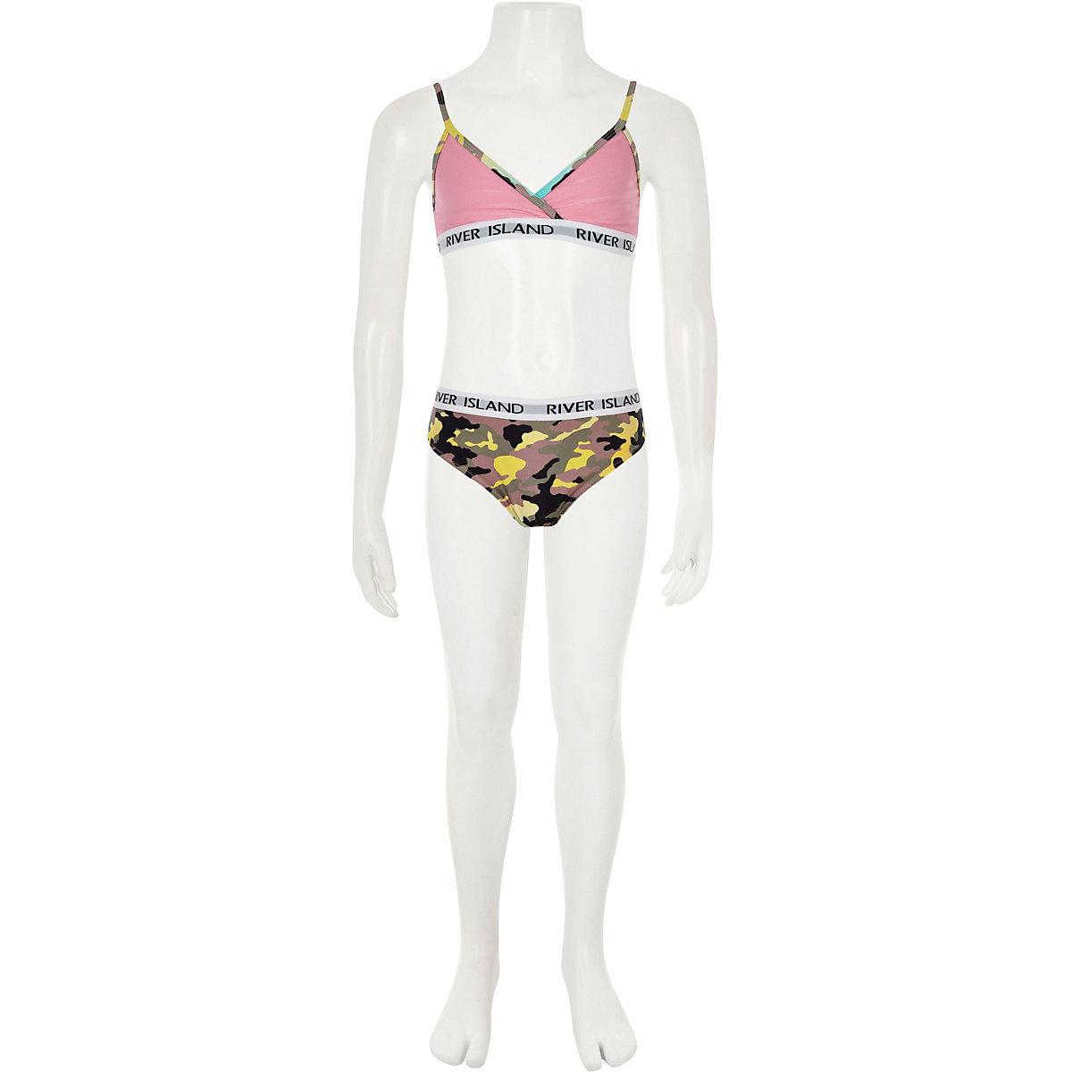fb6486ef48 Girls khaki camo triangle bikini set - Bikinis - Swimwear ...