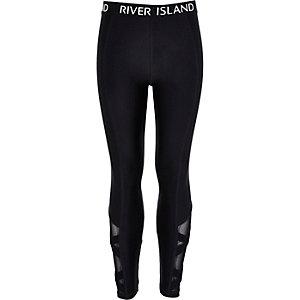 Girls RI Active black cross leggings