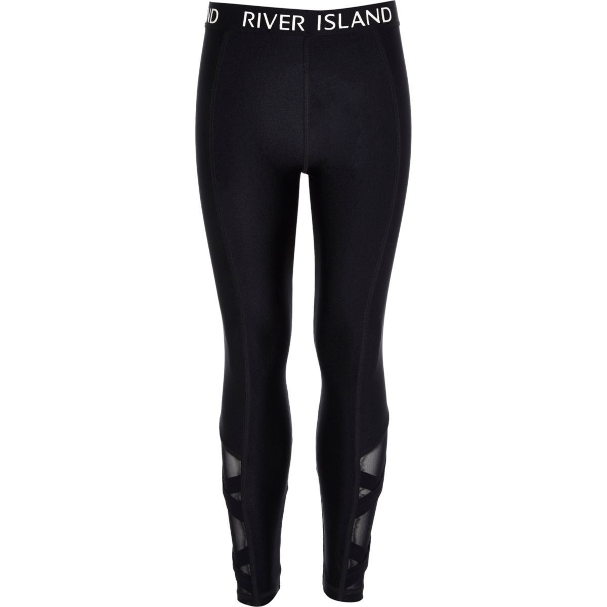 Girls RI Active black cross leggings