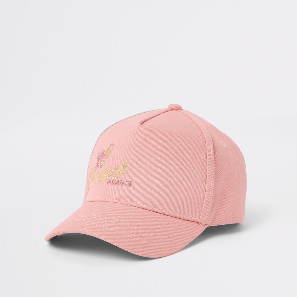 Girls Pineapple pink cap