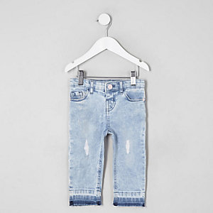 Mini girls light blue Bella ripped jeans