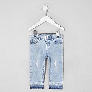 Mini - Bella - Lichtblauwe ripped jeans voor meisjes