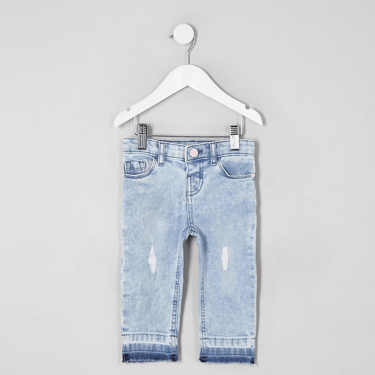 Mini girls light blue Bella ripped jeans