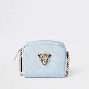Girls blue RI tiger cross body bag