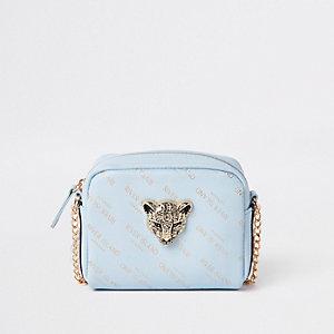 Sac RI motif tigre bleu à bandoulière pour fille