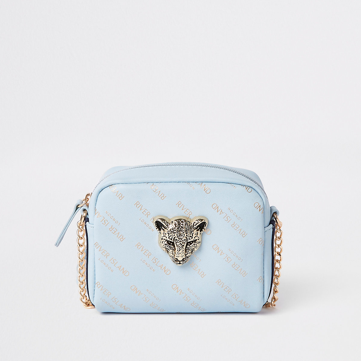 Girls blue RI tiger cross body bag