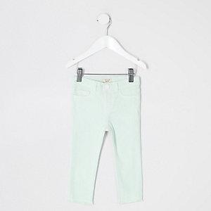 Mini girls mint green Molly jeggings