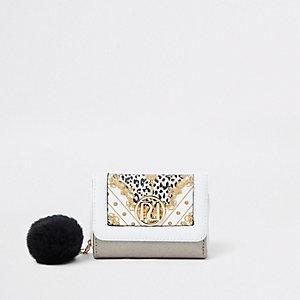 Porte-monnaie léopard à trois volets pour fille