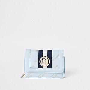 Blauwe vouwportemonnee met RI-logo voor meisjes