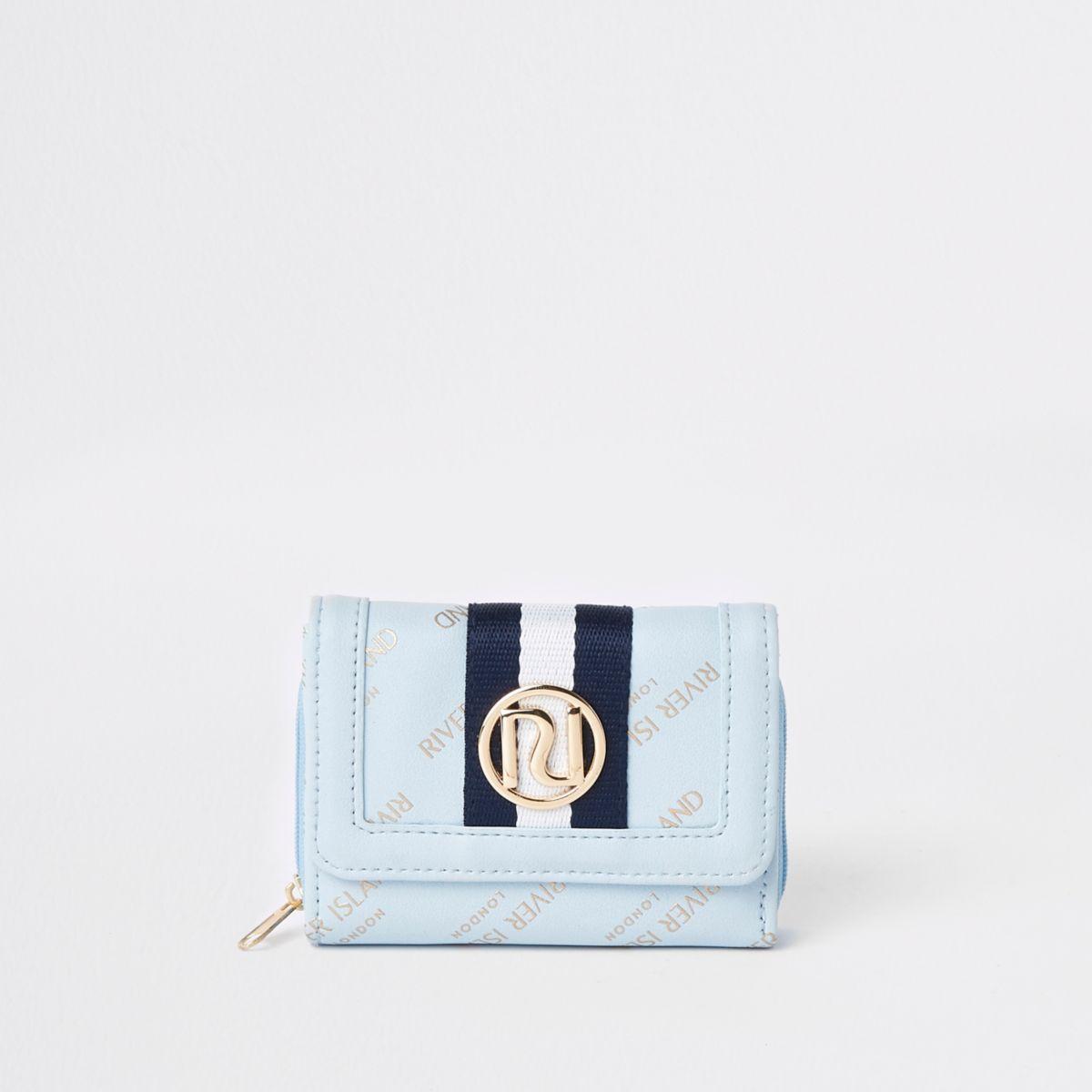 Girls blue RI trifold purse