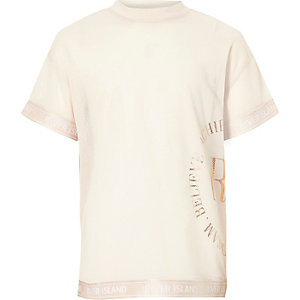 RI Active – Pinkes T-Shirt aus Netzstoff