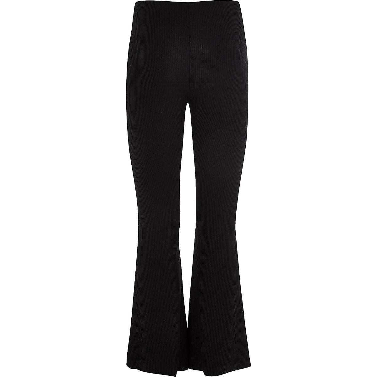 Girls black flared trousers