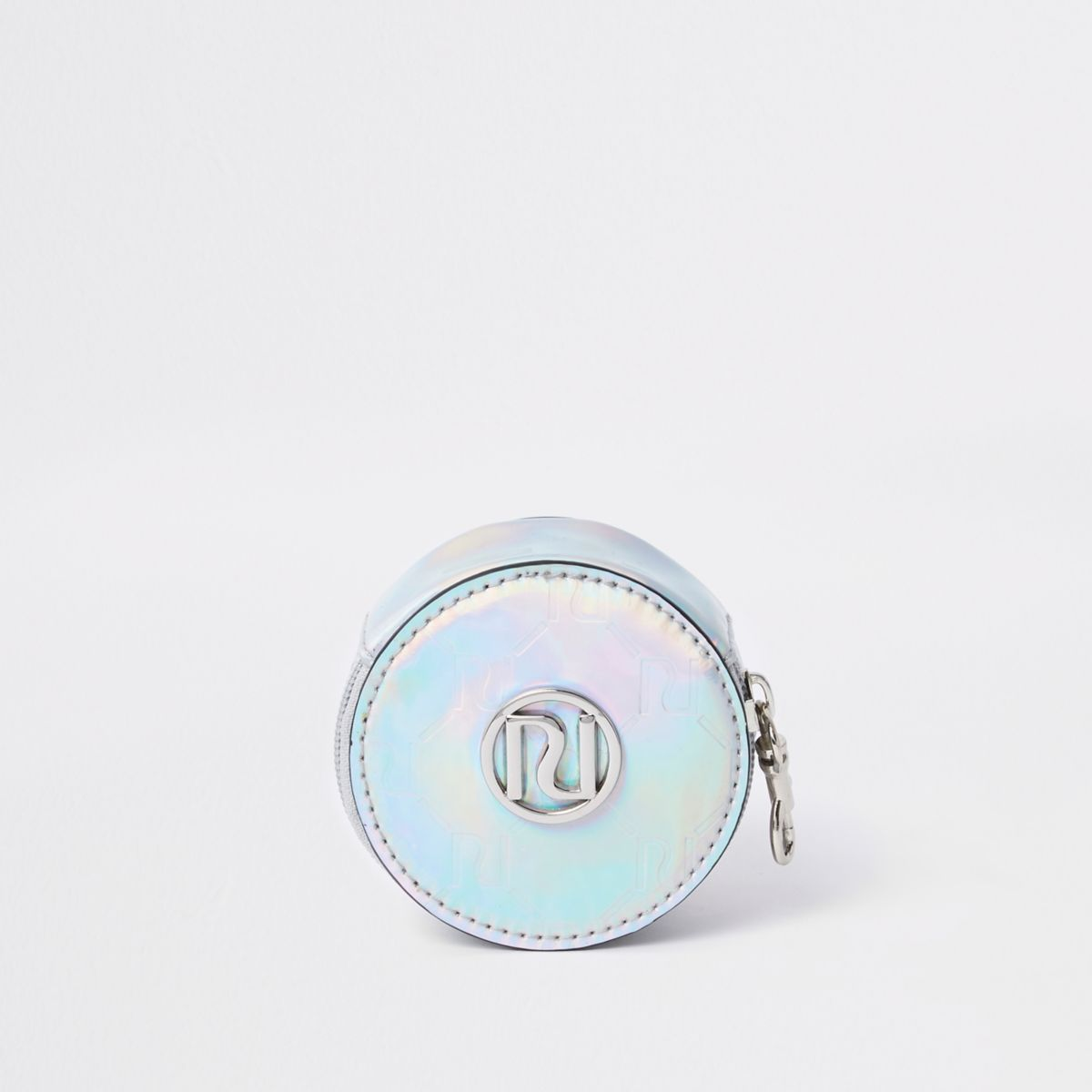 Girls silver holographic RI round coin purse