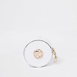 Porte-monnaie rond blanc pour fille