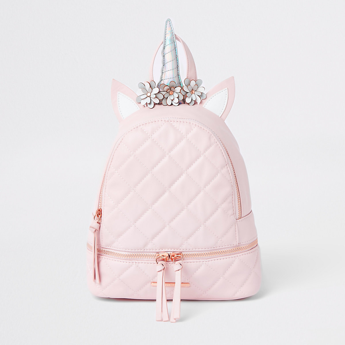 Girls pink unicorn backpack
