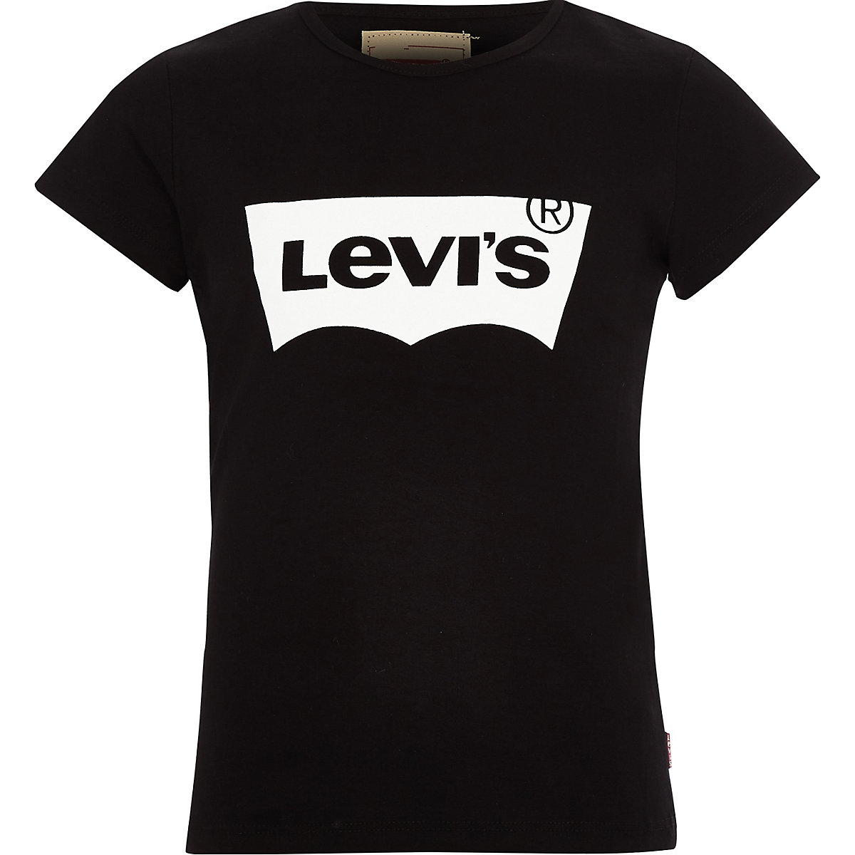 Girls Levi's black logo print T-shirt