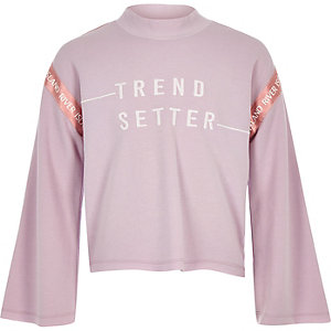 """Sweatshirt """"Trend setter"""" in Lila"""