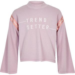 Sweat «Trend setter» violet pour fille