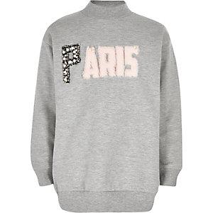 Girls grey 'Paris' sweatshirt