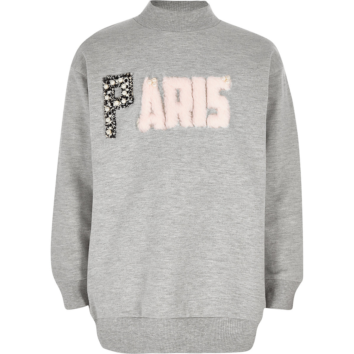 Girls grey 'Paris' sweatshirt