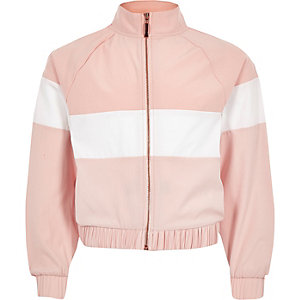 RI Active – Veste de survêtement colour block rose pour fille