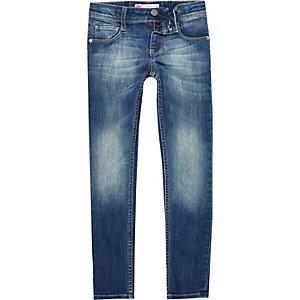 Levi's - Blauwe vervaagde skinny jeans voor meisjes