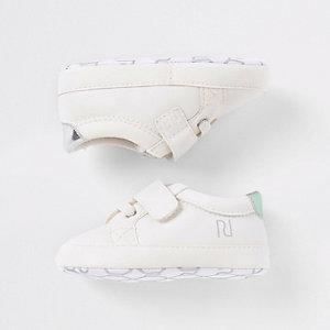 Witte sneakers met 'you can'-print voor baby's