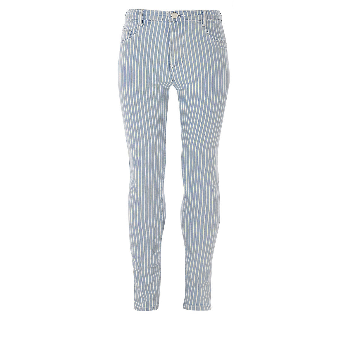 Girls blue stripe Molly high rise jeggings