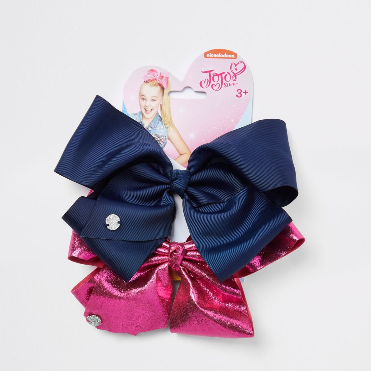 Girls navy and pink JoJo bows pack